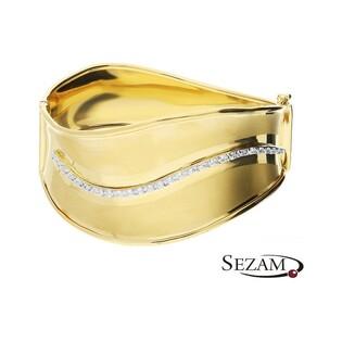 Bransoleta złota bangle z cyrkoniami nr LB 1049 Au 585