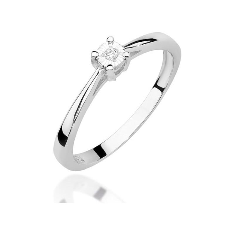 Pierścionek zaręczynowy Soliter Magic z diamentem nr BE W-463