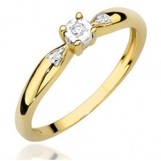 Pierścionek zaręczynowy SOLITER Magic z diamentem nr BE w-469