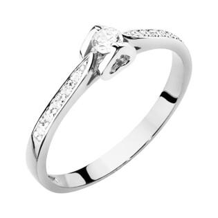 Pierścionek z diamentami AMADO BE W-435 białe złoto próba 585 Sezam - 1