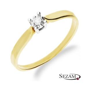 Pierścionek zaręczynowy SOLITER z diamentem nr RJ 439/03KCH