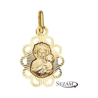 Medalik złoty Matka Boska Częstochowska nr CB M-0653 Au 333