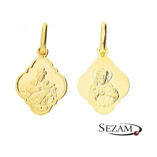 Medalik złoty szkaplerz nr CB M-0838-OP60 Au 333