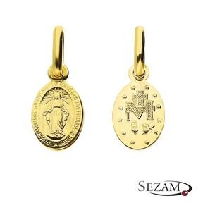 Medalik złoty z wizerunkiem Matki Boskiej Niepokalanej nr CB M-0928 próba 333 Sezam - 1