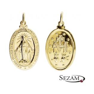 Medalik złoty z Matką Boską Niepokalaną nr KM M-0924/32-MIR4 AU 333
