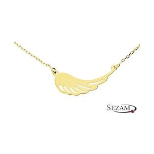 Naszyjnik złoty ze skrzydłem ażurowym nr MZ T23-N-LZ-6 AU 333
