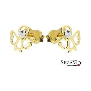 Kolczyki złote aniołki ażurowe nr AR 212358-YW-DC Au 333