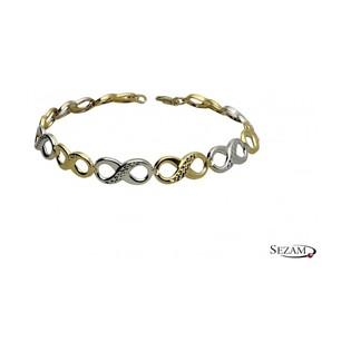 Bransoleta damska złota infinity numer AR 212966-YW-DC próba 333