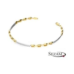 Bransoleta złota z cyrkoniami nr AR 202485-YW-CZ Au 585