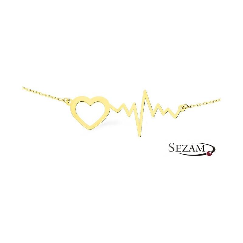 Naszyjnik złoty serce z pulsem nr AR 1541 Au 333