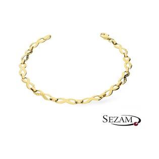 Bransoleta złota symbole nieskończoności nr AR 5900-DC Au 333