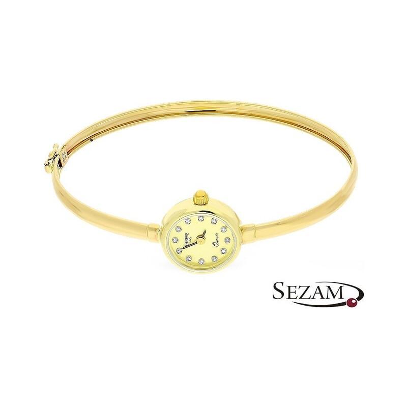 Zegarek złoty typu bangle nr MI GENEVE SM004 Au 585