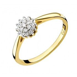 Pierścionek złoty zaręczynowy Bridel nr RS RS0395 aU 585