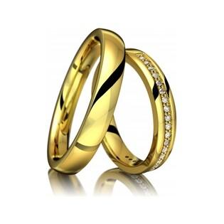 Obrączki złote jednokolorowe nr A9 007WR Sezam - 1