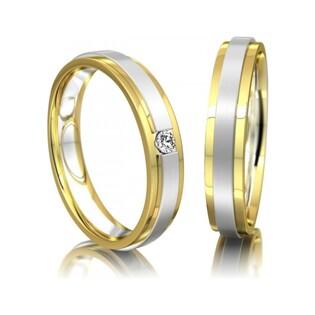 Obrączki złote dwukolorowe nr A9 010BWR Sezam - 1