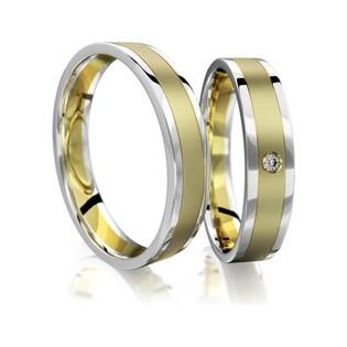 Obrączki złote dwukolorowe nr A9 014BWR Sezam - 1