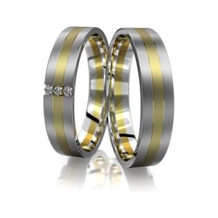 Obrączki złote dwukolorowe nr A9 020BWR Sezam - 1