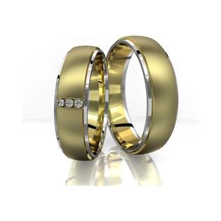 Obrączki złote dwukolorowe nr A9 021BWR Sezam - 1