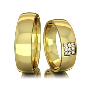 Obrączki złote jednokolorowe nr A9 047WR Sezam - 1