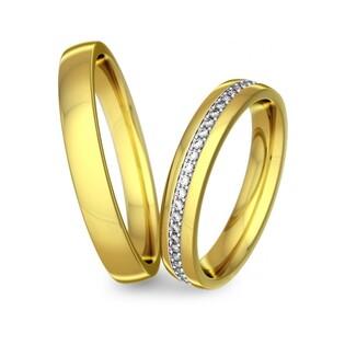 Obrączki złote jednokolorowe nr A9 051WR Sezam - 1