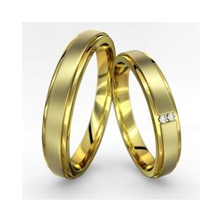 Obrączki złote jednokolorowe nr A9 052WR Sezam - 1