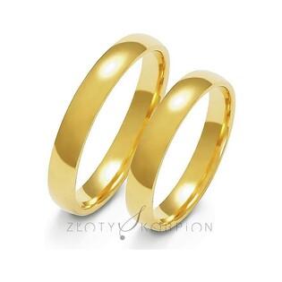 Klasyczne obrączki ślubne nr ZO A-105 Sezam - 1