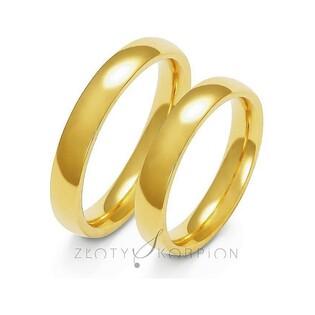Klasyczne obrączki ślubne nr ZO A-109 Sezam - 1