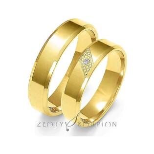 Złote obrączki nr ZO A-149 Sezam - 1