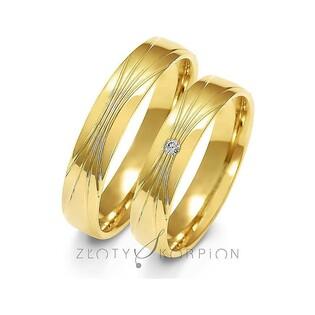 Złote obrączki ślubne nr ZO A-156 Sezam - 1