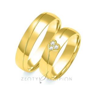 Złote obrączki ślubne nr ZO B-104 Sezam - 1