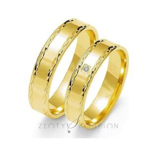 Obrączki złote grawerowane nr ZO O-100 Sezam - 1