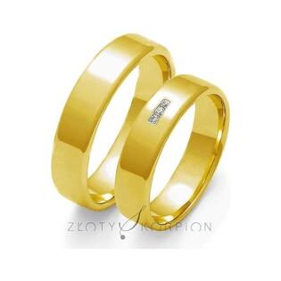 Obrączki złote nr ZO O-101 Sezam - 1