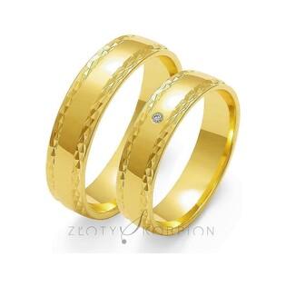Obrączki złote nr ZO O-104 Sezam - 1