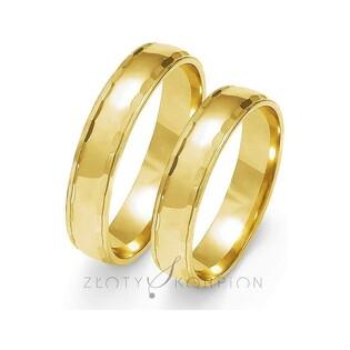 Obrączki złote nr ZO O-108 Sezam - 1