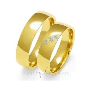 Złote obrączki ślubne nr ZO O-139 Sezam - 1