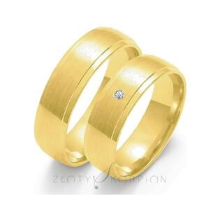 Złote obrączki ślubne nr ZO O-44 Sezam - 1
