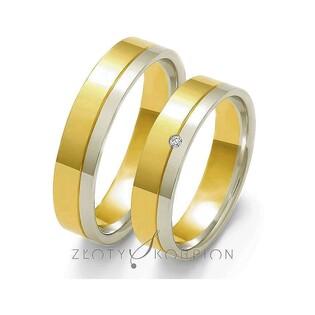 Obrączki złote dwukolorowe z kamieniami nr ZO OE-10 Sezam - 1