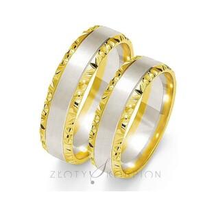 Obrączki ślubne dwukolorowe nr ZO OE-213 Sezam - 1