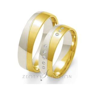 Obrączki złote dwukolorowe z kamieniami nr ZO OE-92 Sezam - 1