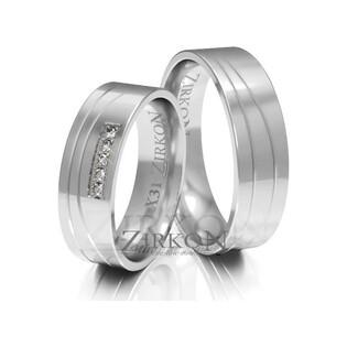 Obrączki ślubne z kamieniami nr ZI X-031