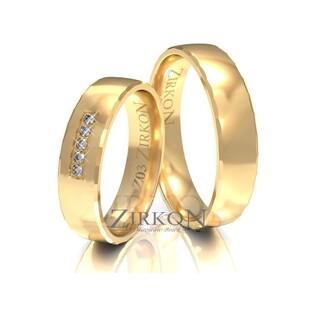 Obrączki ślubne z kamieniami nr ZI Z-003