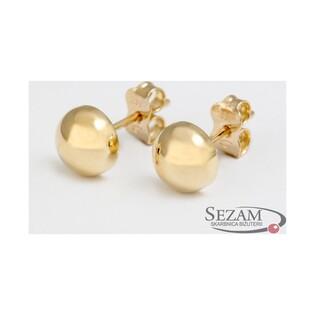Kolczyki złote pół-kulki nr MZ E15-5mm-Half próba 585