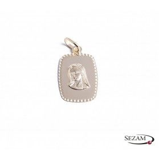 Medalik ze złota 333 Matka boska na blaszce nr CB CPP/1-M/6