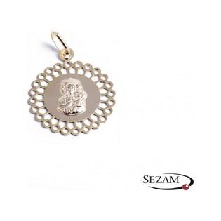 Medalik złoty z ażurową otoczką nr CB MC01001 próba 333