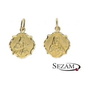 Medalik złoty Szkaplerz nr SF OP59 próba 585 cudowny medalik
