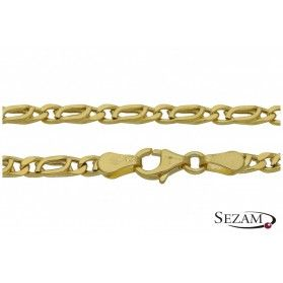 Łańcuszek męski złoty splot typu spinacz nr OPV 080-DIA dm próba 585