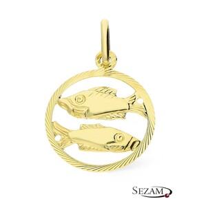 Złoty zodiak Ryby nr BC BC064 próba 585