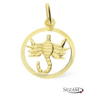 Złoty zodiak Skorpion nr BC BC064 próba 585