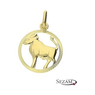 Złoty zodiak Byk nr BC BC064 próba 585