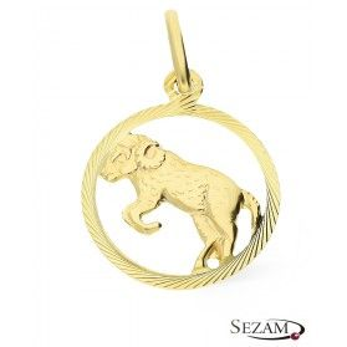 Złoty zodiak Baran nr BC BC064 próba 585